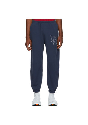 Adaptation Navy Embroidered Graphic Sweatpants