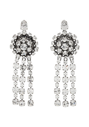 Gucci Silver Tennis Crystal Earrings
