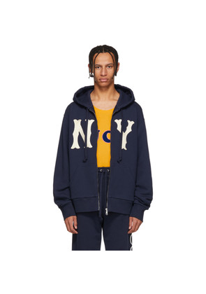 Gucci Navy NY Yankees Edition Patch Zip Hoodie
