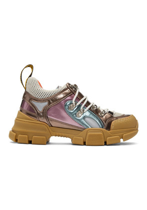 Gucci Pink & Green Flashtrek Sneakers