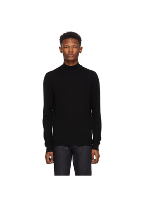 Bottega Veneta Black Cashmere Mock Neck Sweater