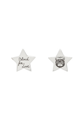 Gucci Silver Star 'Blind For Love' Stud Earrings