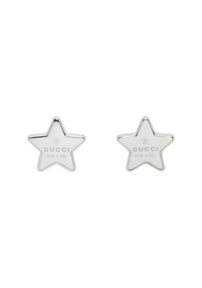 Gucci Silver Star Logo Stud Earrings