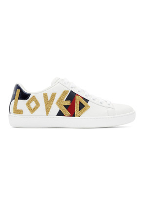 Gucci White 'Loved' Ace Sneakers