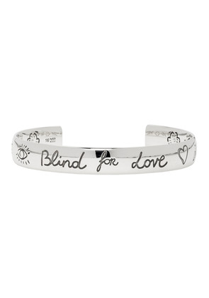 Gucci Silver 'Blind For Love' Bracelet