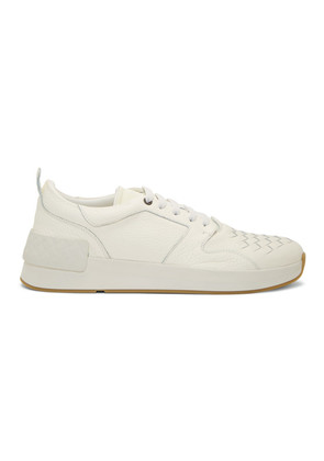 Bottega Veneta White Intrecciato Grand Sneakers