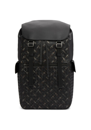 Bottega Veneta Black Intrecciato Microdots Backpack