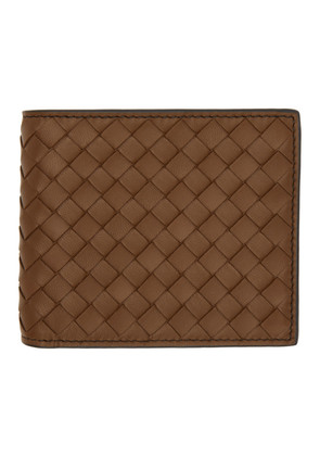 Bottega Veneta Brown Intrecciato Zebra Wallet