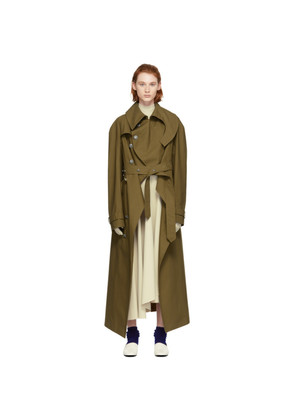 A.W.A.K.E. Brown Oiled Cotton Trench Coat