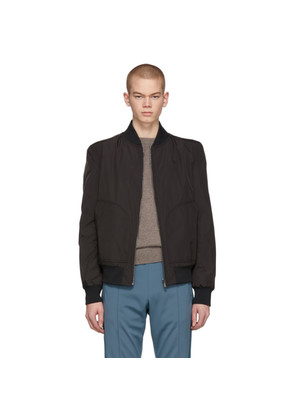 Bottega Veneta Black Heavy Bomber Jacket
