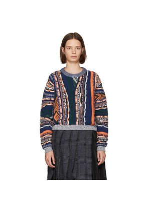 Carven Multicolor Mixed Weave Sweater