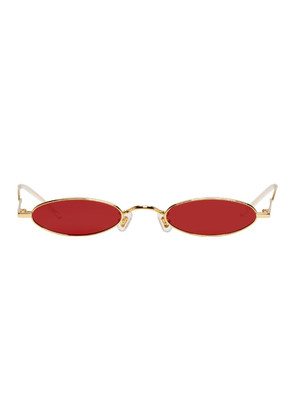 Gentle Monster Gold & Red Vector Sunglasses