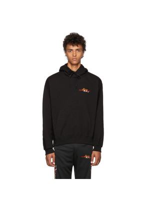 Doublet Black Chaos Embroidery Hoodie