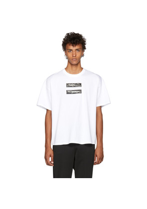 Doublet White 'No Image' Lenticular T-Shirt