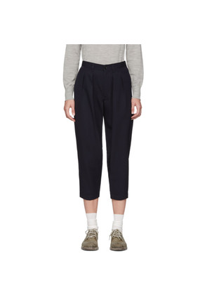 Tricot Comme des Garçons Navy Wool Pleated Trousers