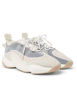 adidas Consortium - + Bristol Studio Crazy Byw Lvl Ii Suede And Mesh Sneakers - Off-white