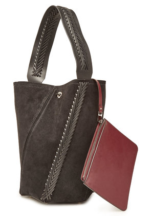 Proenza Schouler Medium Hex Bucket Bag with Suede and Leather