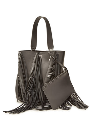 Proenza Schouler Medium Hex Bucket Bag with Leather and Fringe