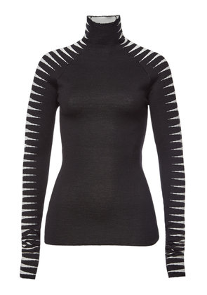 Haider Ackermann Turtleneck Pullover with Wool and Silk
