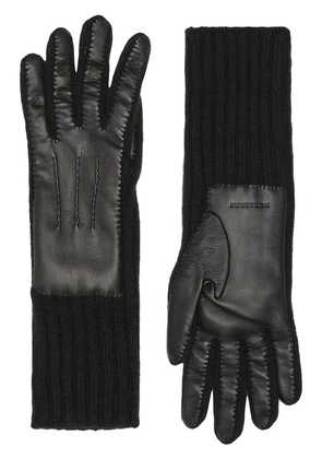 Burberry Cashmere and Lambskin Gloves - Black