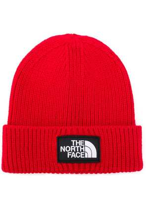 The North Face logo patch beanie - Red