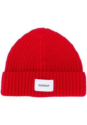 Dondup logo patch beanie - Red