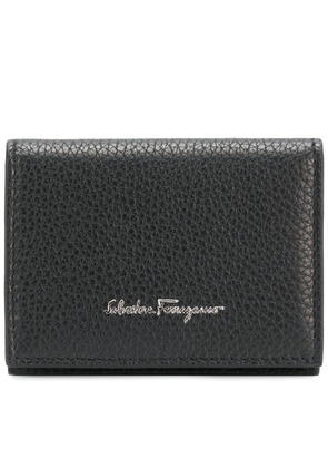 Salvatore Ferragamo textured logo wallet - Black