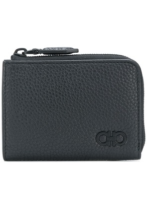 Salvatore Ferragamo half zip coin pouch - Black