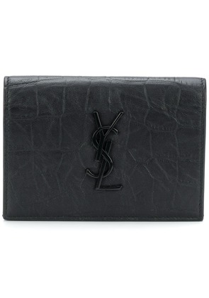 Saint Laurent Monogram foldover wallet - Black