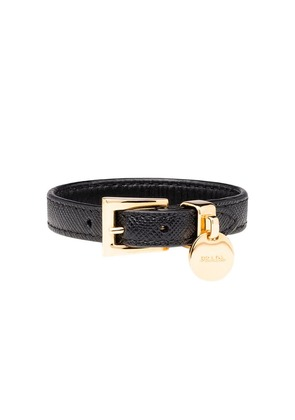 Prada Saffiano leather bracelet - Black