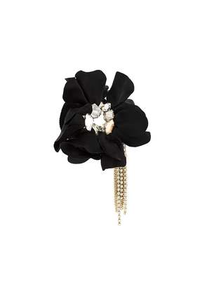Lanvin flower applique bracelet - Black