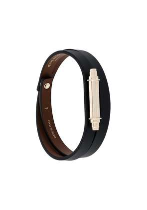 Givenchy metallic bar wrap bracelet - Black