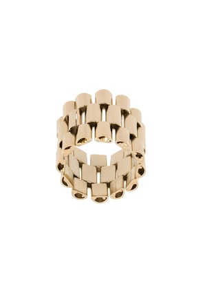 Krizia wide chain ring - Metallic