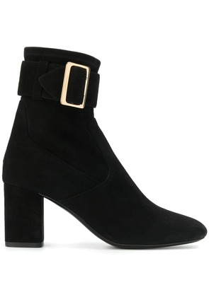 Burberry buckle detail boots - Black