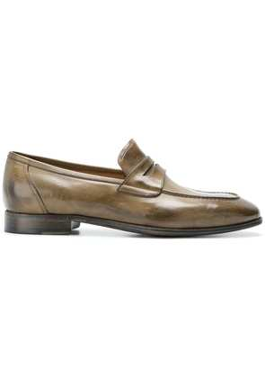 Silvano Sassetti distressed penny loafers - Brown