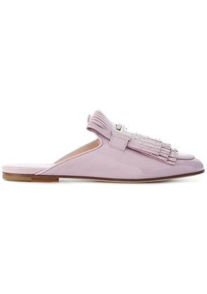 Tod's fringed loafer slippers - Pink