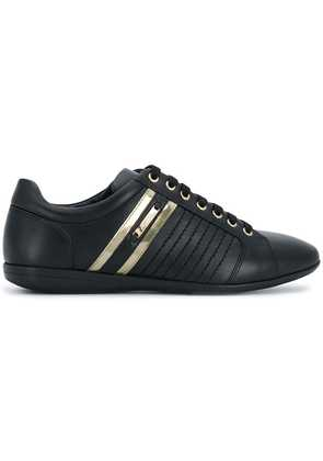 Versace Collection paneled bowling sneakers - Black