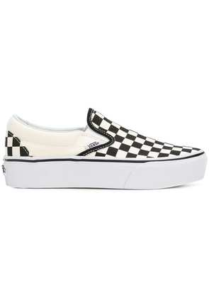 Vans slip-on checkered sneakers - White