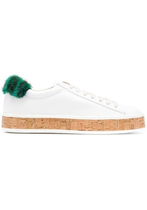 Mr & Mrs Italy fur patch sneakers - White