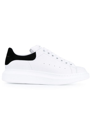 Alexander McQueen leather trainers with black suede trim - White