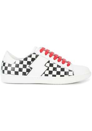Amiri Viper check low-top sneakers - White