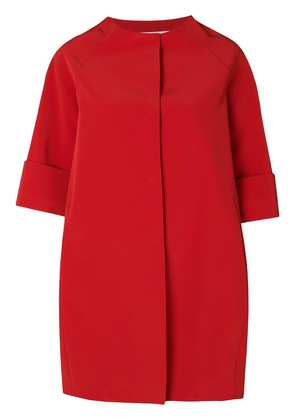 Gianluca Capannolo cropped sleeve cocoon coat - Red