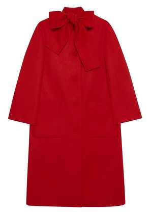 Gucci Wool coat with self-tie - Red