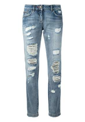 Philipp Plein distressed jeans - Blue