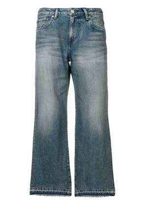 John Elliott washed wide leg jeans - Blue