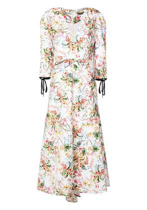 Hellessy floral flared dress - Multicolour