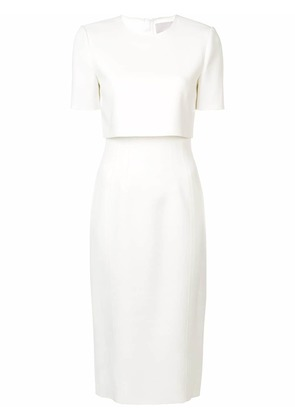 Jason Wu Collection layered fitted dress - White
