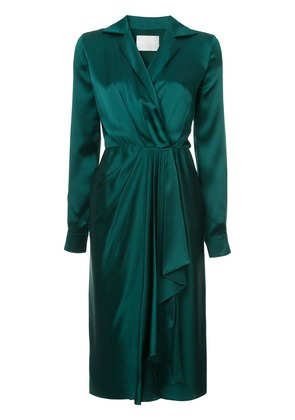 Jason Wu Collection pleated front wrap dress - Green