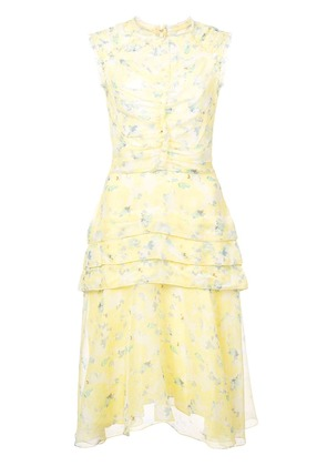 Jason Wu Collection gathered floral dress - Yellow