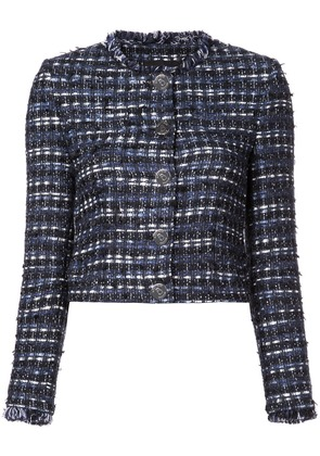 Boutique Moschino embroidered fitted jacket - Blue